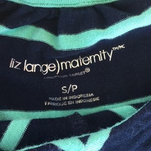 Liz Lange Dresses - Liz Lange Maternity maxi dress, navy & teal 🤰🏻